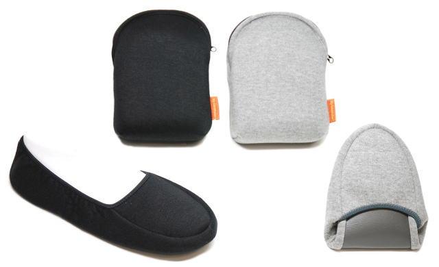 送料無料 大きくて履きやすいシューズタイプ 安い 激安 プチプラ 高品質 男女供用二つ折りシューズ型携帯スリッパ 1着でも送料無料