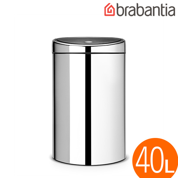 Brabantia Touch Bin Chroom.Brabantia Touch Bin 40l Chrome Touch Bin 40 Litre Brilliant Steel 34858 7 Interior Interior Litter Box Cylinder Type