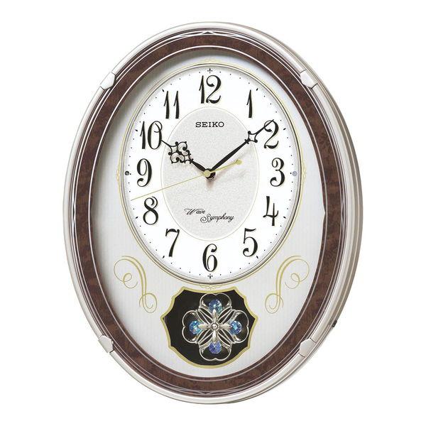 セイコー ウエーブシンフォニー 電波正時メロディ掛時計 (AM259B) 単品 [キャンセル・変更・返品不可]