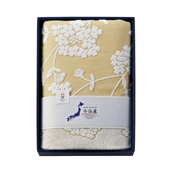 今治産 八仙花 ジャガードタオルケット (HND-115)[返品・交換・キャンセル不可]