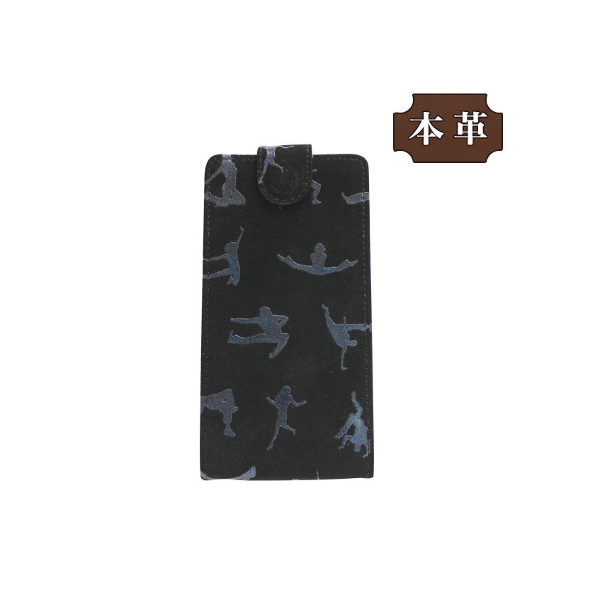 ASUS ZenFone Max Pro(M1) 専用 手帳型スマホケース 縦開き ダンスピーポー柄 ユニーク (LW175-V) [キャンセル・変更・返品不可][代引不可][同梱不可]