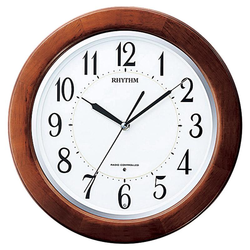 リズム 電波掛時計 リバライト (8MY461SR06) [キャンセル・変更・返品不可]