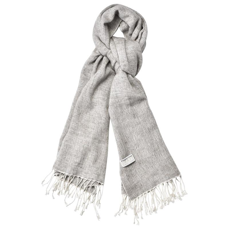 手織りコットン&ヤクウール ストール (186434) [キャンセル・変更・返品不可]