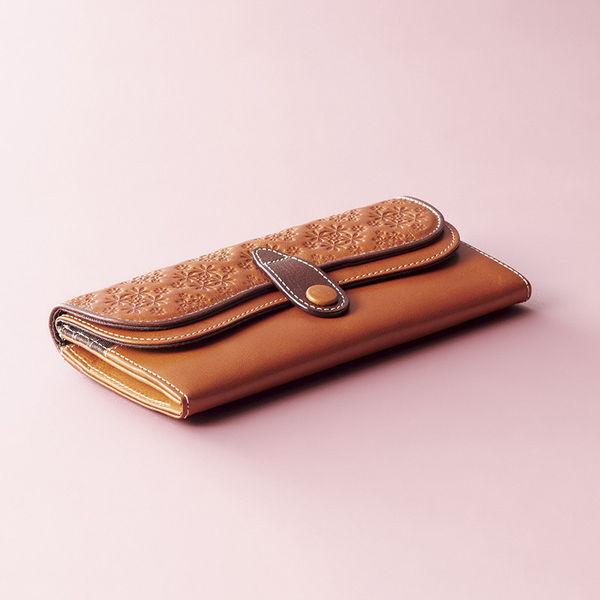 ヴァヒオ イタリアンレザー長財布 キャメル (VP-2150) [キャンセル・変更・返品不可]