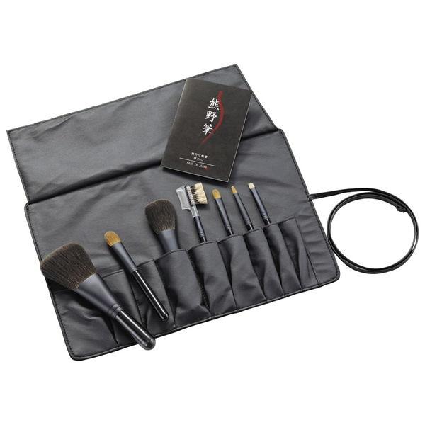熊野化粧筆セット 筆の心 ブラシ専用ケース付き (KFi-K307) [キャンセル・変更・返品不可]