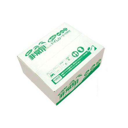 ヤシレット ヤシ殻活性炭 ラビン非常用トイレ シートタイプ100回(シートのみ) BR-912