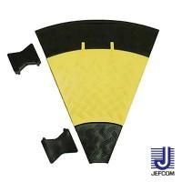 JEFCOMジェフコム ケーブルプロテクター ジョイントプロテクター(マルチ連結タイプ) 曲線部 470×535×50mm JTP-5435-45 [ラッピング不可][代引不可][同梱不可]