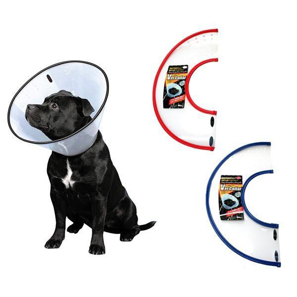 FANTASY WORLD 犬·猫用ラクラクペットカラー VET Collar(ベットカラー) XLサイズ クリア·VC-5   [ラッピング不可][代引不可][同梱不可]