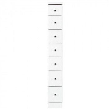 送料無料 ソピア サイズが豊富なすきま収納チェスト ホワイト色 初売り 7段 同梱不可 ラッピング不可 代引不可 日本最大級の品揃え 幅20cm