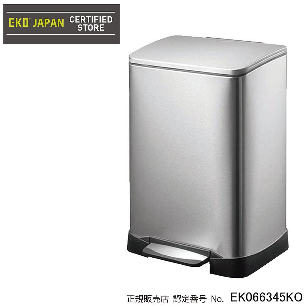 EKO(イーケーオー) ステンレス製ゴミ箱(ダストボックス) ネオキューブ ステップビン 30L シルバー EK9298MT-30L [ラッピング不可][代引不可][同梱不可]