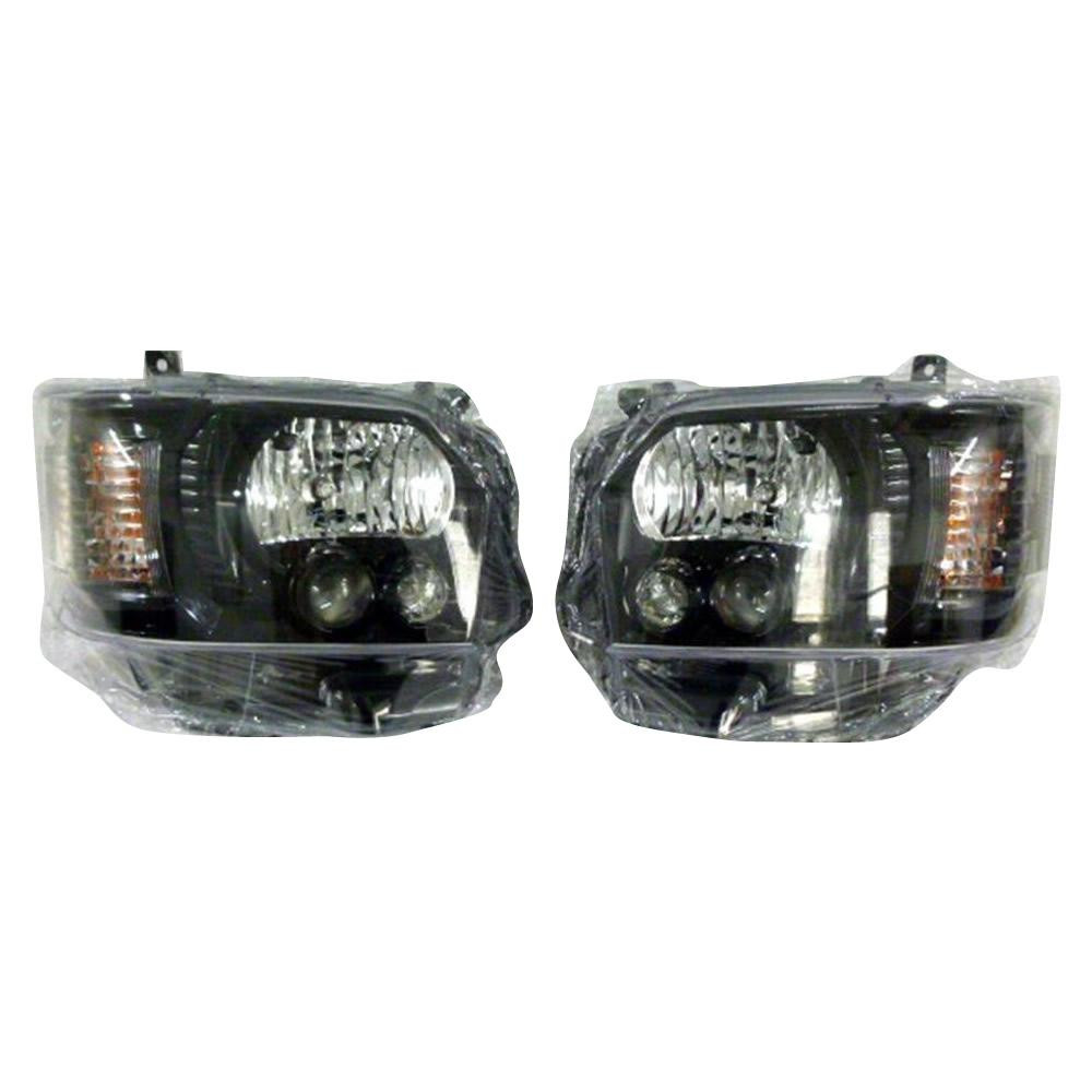 SoulMates 200系ハイエース(1・2・3型用) カスタム用LEDヘッドライト 4型ルック ブラック(艶)枠塗装タイプ GTH-005 [ラッピング不可][代引不可][同梱不可]