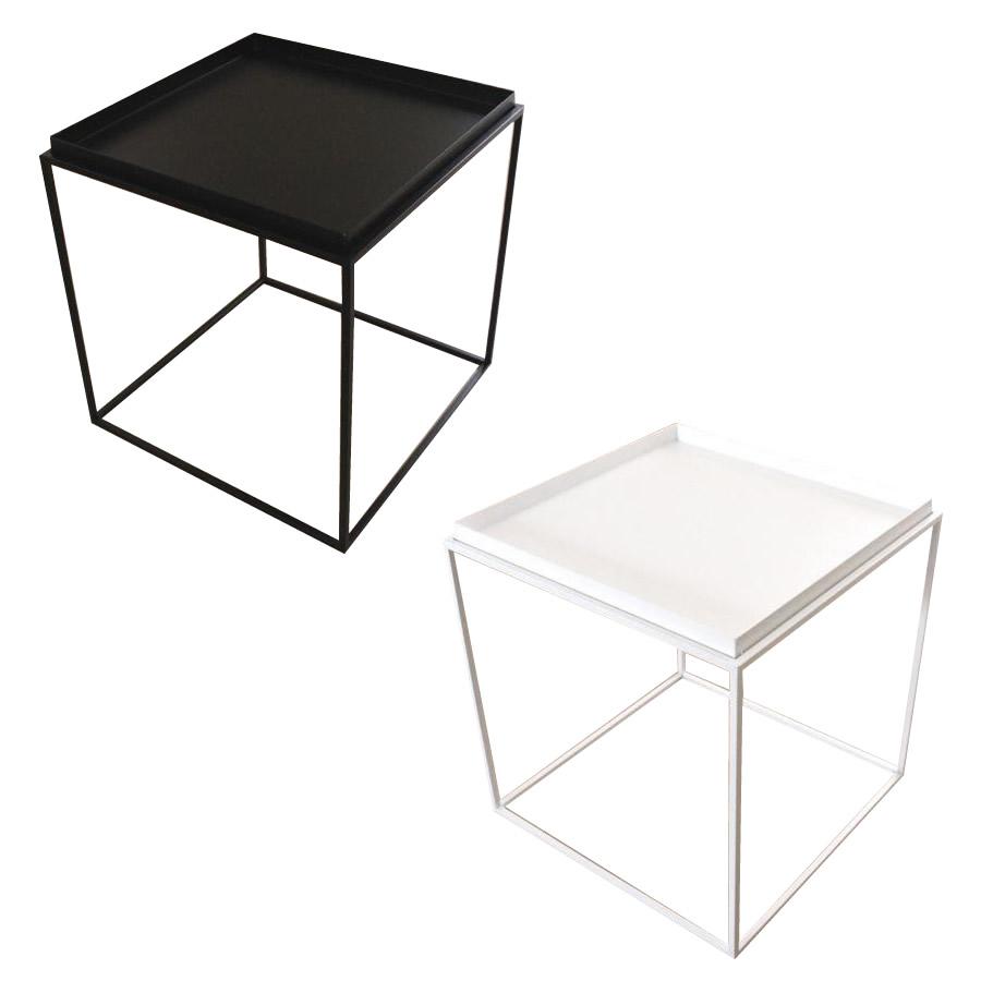 トレイテーブル サイドテーブル 400×400mm ブラック・HBT-030 [ラッピング不可][代引不可][同梱不可]