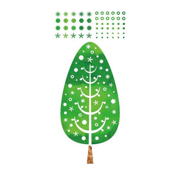 東京ステッカー 転写式 大判 ウォールステッカー ツリー・デコレーション グリーン Lサイズ TS-0014-AL [ラッピング不可][代引不可][同梱不可]