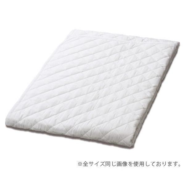 SUYA-LAB 綿ベッドパッド SU3919 K 180×200cm ホワイト 22411-86521/998(WH)