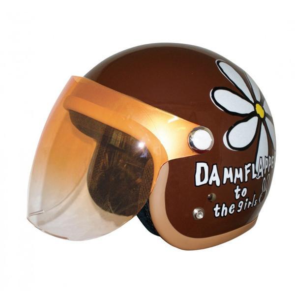 ダムトラックス(DAMMTRAX) フラワージェット ヘルメット PEARL BROWN