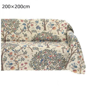 川島織物セルコン Morris Design Studio ケルムスコットツリー マルチカバー 200×200cm HV1722 BE ベージュ