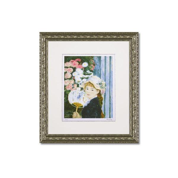 ユーパワー ミュージアムシリーズ(ジクレー版画) アートフレーム ルノワール 「団扇を持つ少女」 MW-18039