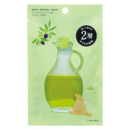 五洲薬品 入浴用化粧品 バスデザイン フレッシュオリーブの香 (25ml×10袋)×12箱(120袋入り) BD-OL