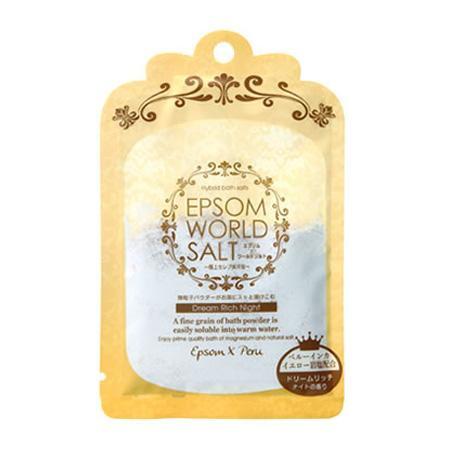 五洲薬品 入浴用化粧品 エプソムワールドソルト ドリームリッチナイトの香り (50g×10袋)×12箱(120袋入り) EWS-YE [ラッピング不可][代引不可][同梱不可]