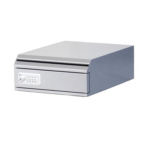 ぶんぶく 機密書類回収ボックス 卓上 ダイヤル錠仕様 シルバーメタリック KIM-S-5D