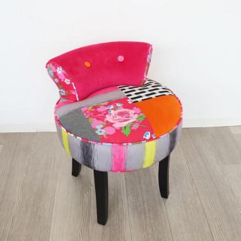 かわ畑 椅子 カラフルチェアー スツール 1407STC ピンク・003 [ラッピング不可][代引不可][同梱不可]