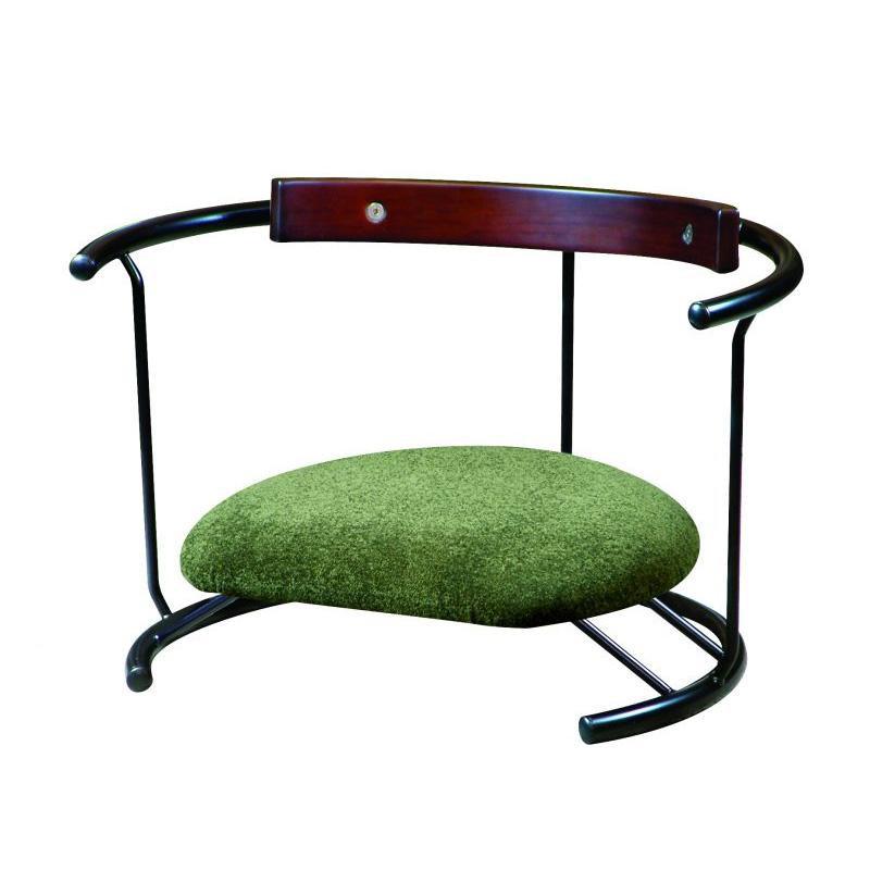 ルネセイコウ 日本製 スイングスツール 木板背当て付き 座ユー モスグリーン ZAU-04 [ラッピング不可][代引不可][同梱不可]