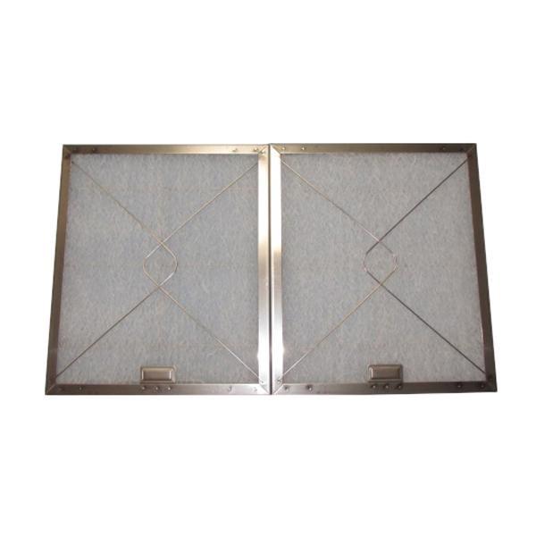 東洋機械 ガラス繊維 レンジフードフィルター 差し込みタイプ 34.8×29.7 ステンレス製取付用枠2枚+フィルター2枚 [ラッピング不可][代引不可][同梱不可]