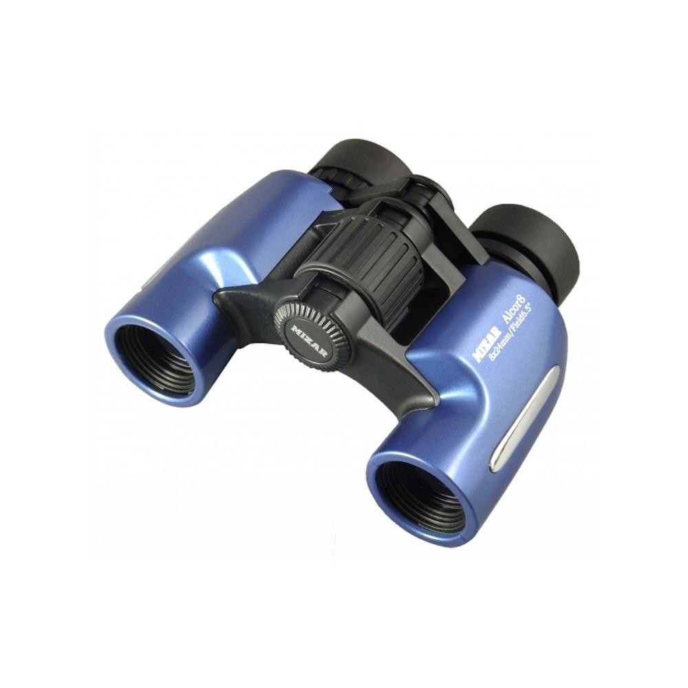 MIZAR(ミザールテック) 双眼鏡 8倍 23mm口径 ポロプリズム式 スタンダード Alcor8 メタリックブルー