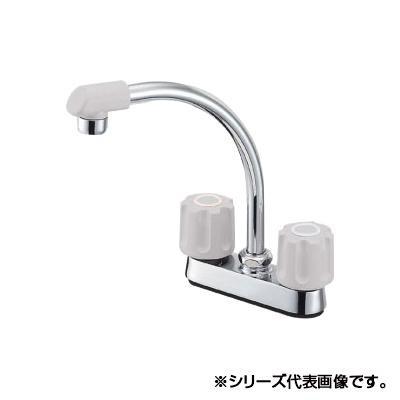三栄 SANEI U-MIX ツーバルブ台付混合栓 寒冷地用 K71DK-LH-13