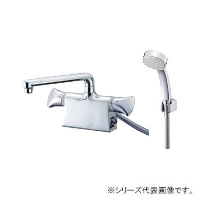 超可爱 SANEI SK78011DS9-13:イースクエア U-MIX 三栄 サーモデッキシャワー混合栓-木材・建築資材・設備