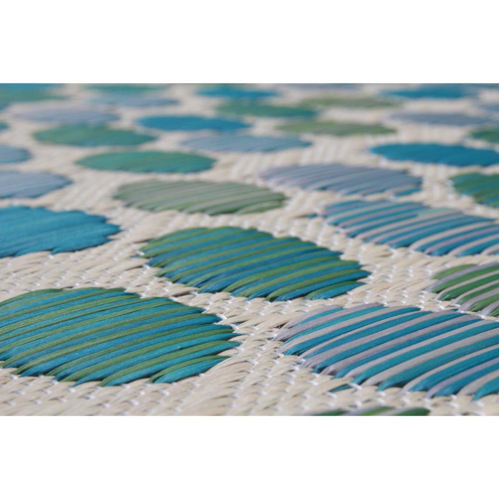 い草 アクセントラグ カラフル 約191×191cm ブルー IKRFR191BL [ラッピング不可][代引不可][同梱不可]