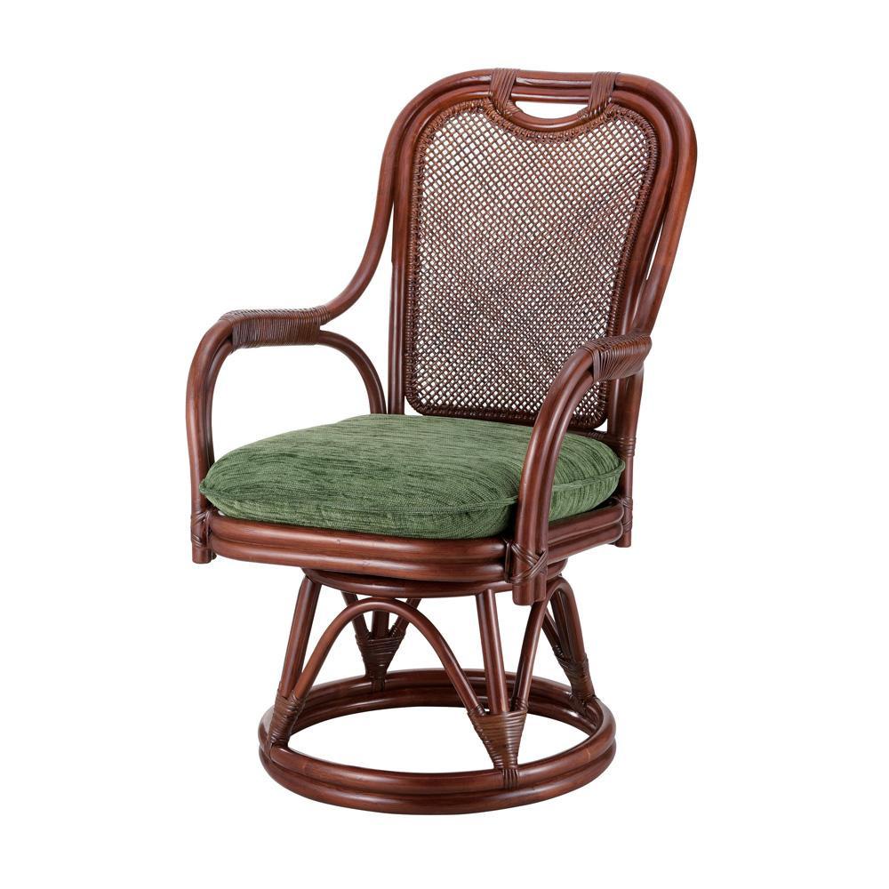 今枝ラタン 籐 シーベルチェア 回転椅子 グローバル A-255LD [ラッピング不可][代引不可][同梱不可]