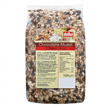 delba(デルバ) チョコレートミューズリー 1kg×10個セット [ラッピング不可][代引不可][同梱不可]