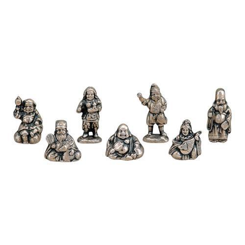 高岡銅器 銅製置物 般若純一郎作 七福神 43-13