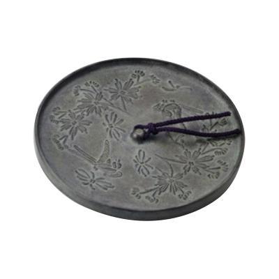 高岡銅器 銅製小物 文鎮 古鏡花鳥文 53-11