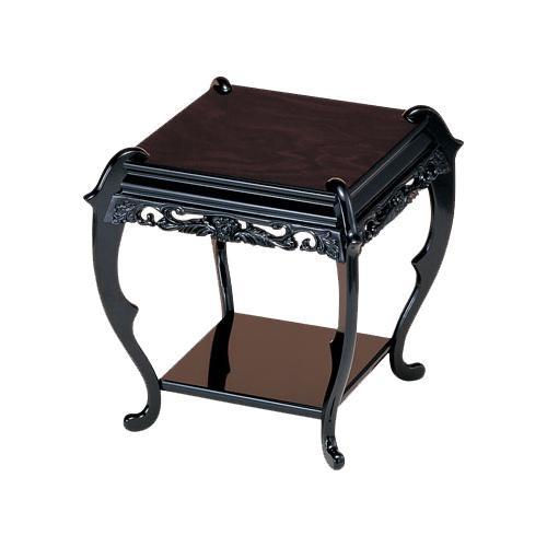 高岡銅器 木製飾台 香炉台 黒檀調 61-09