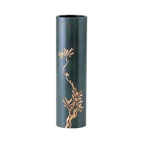 高岡銅器 銅製花瓶 丸寸胴 松 97-04