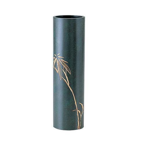 高岡銅器 銅製花瓶 丸寸胴 竹 97-05