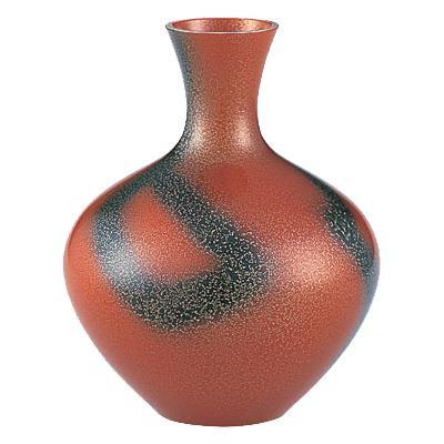 高岡銅器 銅製花瓶 福寿形 レッド 102-06