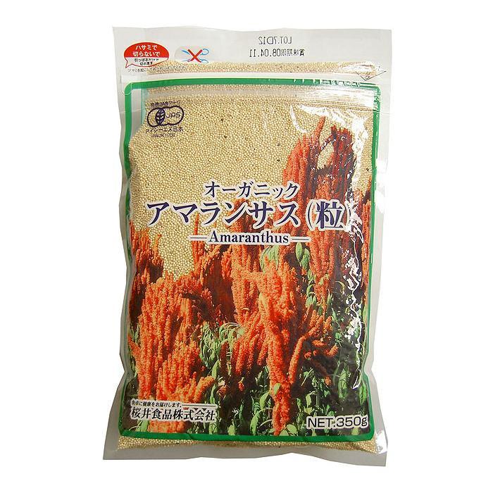 �料無料 桜井食� オーガニック アマランサス 粒 代引�� ◆セール特価�◆ ラッピング�� 使��手�良� �梱�� 350g×12個