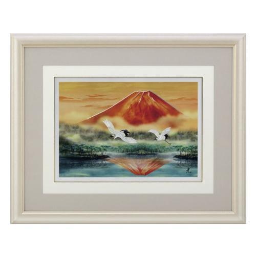 高岡銅器 世界遺産 富士の四季 彫金パネル 北光修作 富士湖畔 144-04
