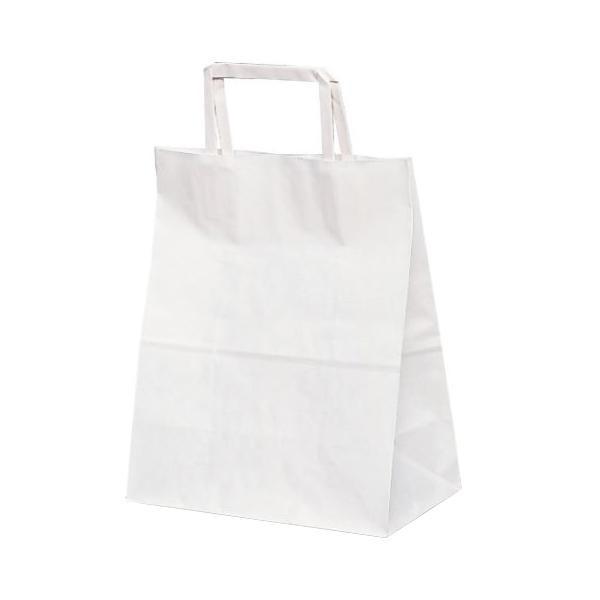 T-Z 自動紐手提袋 紙袋 平紐タイプ 220×120×250mm 400枚 白無地 1975 [ラッピング不可][代引不可][同梱不可]