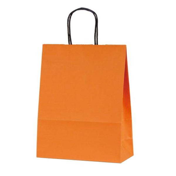 T-X 自動紐手提袋 紙袋 紙丸紐タイプ 260×110×330mm 200枚 カラー(オレンジ) 1594 [ラッピング不可][代引不可][同梱不可]