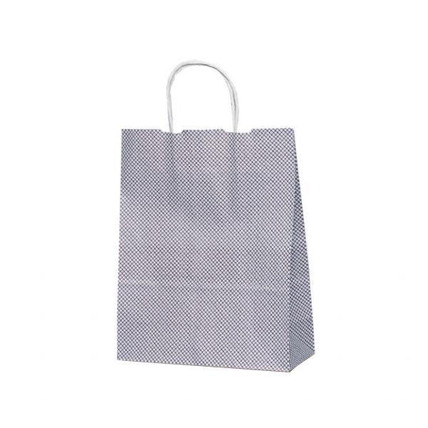 T-X 自動紐手提袋 紙袋 紙丸紐タイプ 260×110×330mm 200枚 鹿の子(紫) 1598 [ラッピング不可][代引不可][同梱不可]