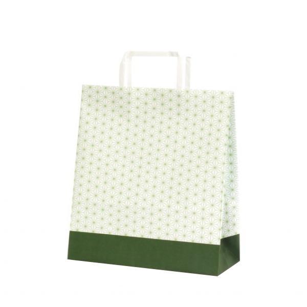 T-X 自動紐手提袋 紙袋 平紐タイプ 260×110×330mm 200枚 麻の葉 1561 [ラッピング不可][代引不可][同梱不可]