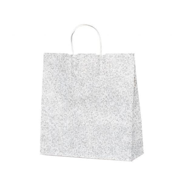 T-6 自動紐手提袋 紙袋 紙丸紐タイプ 320×110×330mm 200枚 フロスティ(グレー) 1691 [ラッピング不可][代引不可][同梱不可]