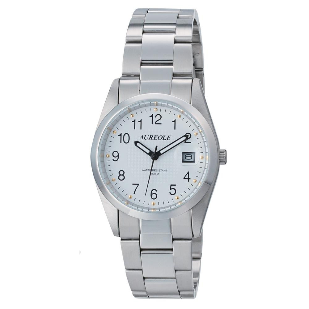 AUREOLE(オレオール) 日本製 メンズ 腕時計 SW-591M-C