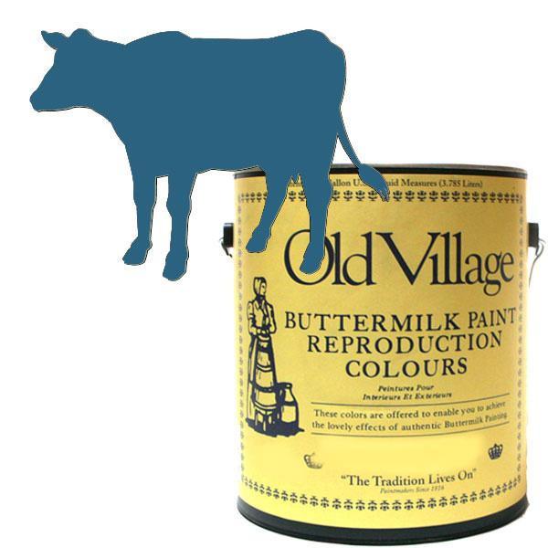 Old Village バターミルクペイント バージニア クロック ブルー 3785mL 605-10181 BM-1018G