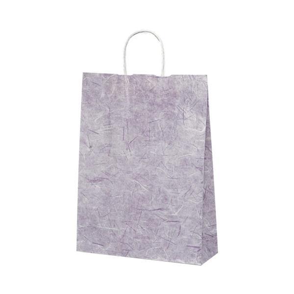 T-8 自動紐手提袋 紙袋 紙丸紐タイプ 320×110×430mm 200枚 彩流(紫) 1824 [ラッピング不可][代引不可][同梱不可]