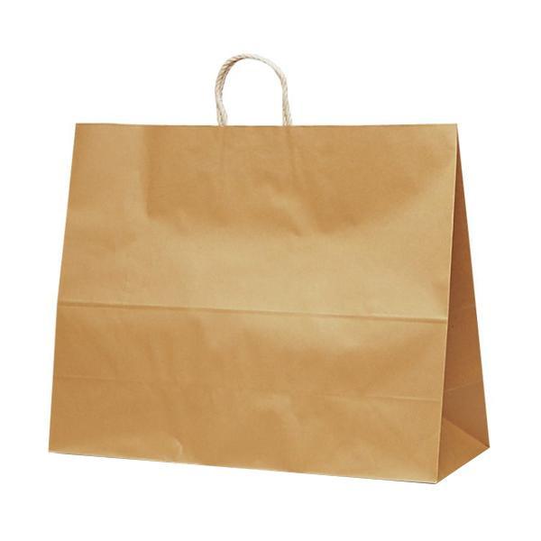 T-17 自動紐手提袋 紙袋 紙丸紐タイプ 600×220×480mm 100枚 茶無地 1746 [ラッピング不可][代引不可][同梱不可]